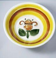Vintage Flower Leaf Cereal Soup Salad Rice Bowl Handpaint Korea Bolero Ironstone