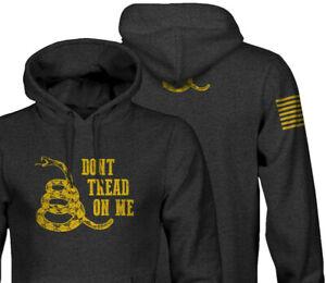Dont Tread on me Hoodie | Gadsden Flag 2A 2nd Amendment Pro Gun Black Sweatshirt