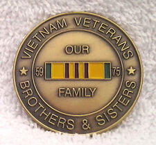 VIETNAM VETERANS BROTHERS & SISTERS WELCOME HOME CHALLENGE COIN 22316 HO