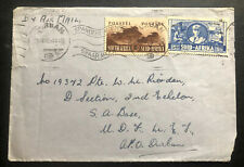 1942 Durban South Africa Cover To Army Base Locally Used