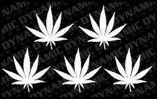 5 pack Pot Leaf cannabis medical marijuana sticker 420 weed car vinyl decal