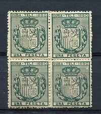 1880.CUBA.TELEGRAFOS..EDIFIL 49**.BLOQUE DE 4.GOMA ORIGINAL.CAT 42 €
