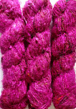 1 Quality Violet Color Rercycled Soft Silk Sari Crochet Yarn 1000 grams