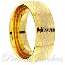 Black Tungsten Carbide Celtic Knots Wedding Band Mens Jewelry Anniversary Ring