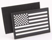 """US Flag Tactical PVC 3"""" x 2""""  Waterproof Patch Hook and Loop Faster"""