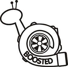 Caracol Turbo Boost Pegatina Potenciado STI WRX RS RX7 Glanza Diesel divertido 200 mm