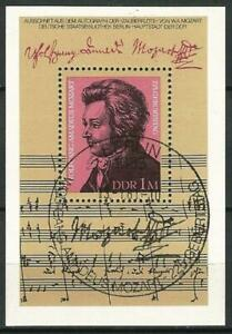 Germany East DDR GDR 1981 CTO Music Wolfgang Amadeus Mozart Block 62 MSE2287