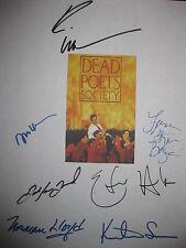 Dead Poets Society Signed Film Script Robin Williams Ethan Hawke Josh Charles rp