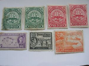 7 x Turks and Caicos stamps