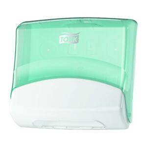 Tork Paper Towel Dispenser 654000 Wiper/Cloth Dispenser White/Turquoise Bathroom