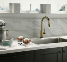 Delta Trinsic Touch2O Single-Handle Pull-Down Sprayer Kitchen Faucet Champagne