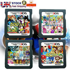 208/482/500/520 in1 Video Games Cartridge Cards For DS NDS 2DS 3DS NDSI NDSL UK