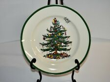 "Spode Merry Christmas Tree Set of 4 Dinner Plates 10-5/8"" NEW S3324-A12 Dishes"