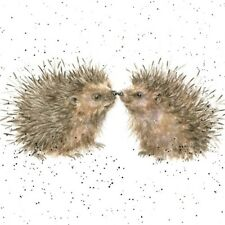 Wrendale Designs Greeting Card Cute Hedgehogs Hogs & Kisses