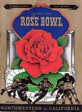 1949 Rose Bowl Football program, Northwestern Wildcats vs. California Bears ~ Gd