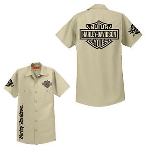 RED KAP SP24 SP14 Mechanic Shirt Motorcycle Biker Gift Harley Davidson NWOT HOT