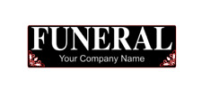 Funeral Magnet Sticker UnderTaker Coffin Coroner Magnetic 300mm