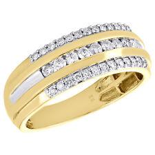 4a23ee029052 10 Quilates Hombre Oro Amarillo Diamante Redondo Anillo de Boda con Canal  8mm