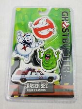 Ghostbusters 4pk Eraser Set New