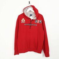 Vintage UMBRO Big Logo Hoodie Sweatshirt Red | Medium M