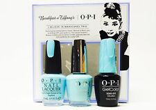 OPI Nail BREAKFAST at TIFFANY'S GelColor + 2 Polish/ I Believe in Manicures ~3ct
