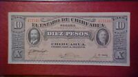 1915 Mexico Series N State of Chihuahua 10 Pesos Banknote UNC!-d1099qxx