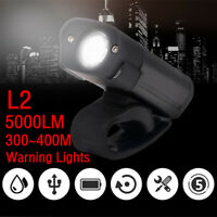 5000LM L2 LED Cycling Bike Bicycle Head Lamp Light Flashlight 5 Modes Torch