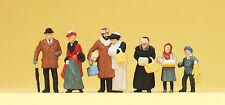 Preiser 12195 Spur H0 Figuren, Auf dem Weihnachtsmarkt, Um 1900 #NEU in OVP#