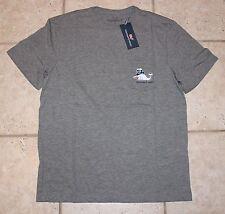 NWT Vineyard Vines Mens Small SS Dark Gray Heather Snowman Whale Pocket T-Shirt