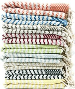 USA SELLER Turkish Towel,Throw Blanket,Housewarming Gifts,100% Cotton,Bulk Towel
