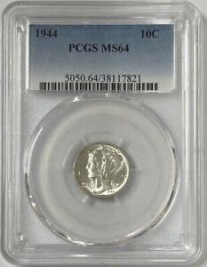 1944 P Mercury Silver Dime PCGS MS64