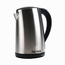 Aroma 7-Cup 1.7L Stainless Steel Electric Kettle AWK-129S