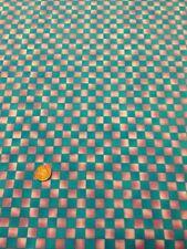 100% cotton quilting craft Fabric Blue Purple Check Graphix Paint Brush Studio