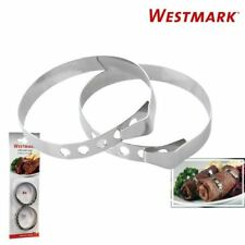 Westmark German Stainless Steel Meat Roll Roulade Clips Rings Clamps Pack of 6