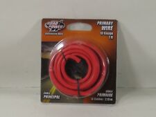 Coleman Cable 10-1-16 10-Gauge 7-Foot Automotive Copper Wire, Red
