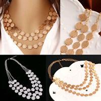 Fashion Charm Jewelry Chain Pendant Choker Chunky Statement Bib Necklace
