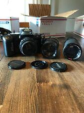Vtg Nikon Af Nikkor 50 mm 1:1.8 3 Lenses N4004 Nikkor Adapter 1:45 1:2:8 Macro