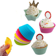 12X Silikon Muffinform Backform Muffinförmchen Kuchenform Cupcake Muffins SF LOT
