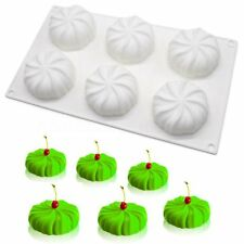 6 Cavity Silicone Pumpkin Mousse Cake Mold dessert Pastry Baking Tray Tool Mould