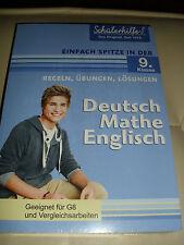 SCHÜLERHILFE 9 KLASSE DEUTSCH MATHE ENGLISCH BUCH REGELN ÜBUNGEN LÖSUNGEN