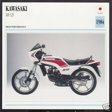 1984 Kawasaki AR 125cc (123cc) Japan Bike Motorcycle Photo Spec Info Stat Card