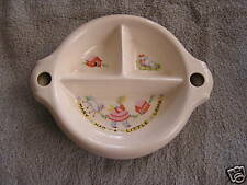 Vintage Mary Had Little Lamb Divided Children's Bowl