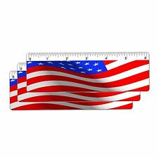 USA Flag Ruler Bookmark 6 In. Animated Lenticular 3 pcs #RU06-220I-S3#
