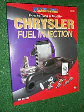 How to Tune and Modify Chrysler Fuel Injection MOTORBOOKS WORKSHOP MANUAL 80-90s