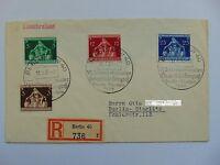 Ganzsache Einschreiben Internationaler Gemeindekongress 1936 Mi 617-620 SST