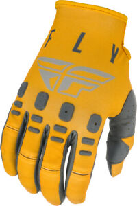 Fly Racing Kids Youth Kinetic K121 Gloves | Mustard/Stone/Grey | Choose Size