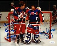 SHAUN WEISS & MATT DOHERTY Hand-Signed ~THE MIGHTY DUCKS~ 8x10 Photo (JSA COA)