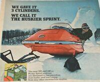 Bolens Snowmobile 1970 Vintage Print Ad Husky Sprint 399 440 CC Fly This Winter