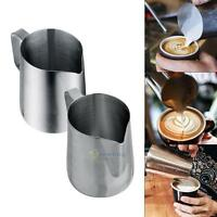 350/600ml Stainless Steel Coffee Milk Measuring Cup with Scale Mark Kitchen Jug