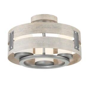 Eurofase 3-Light Grey Clear Glass Semi-Flushmount and Pendant 32696-HBUG